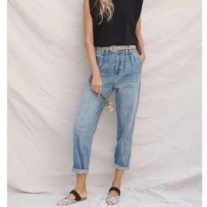 Anthropologie Pilcro Ultra High Rise Pleated Jeans